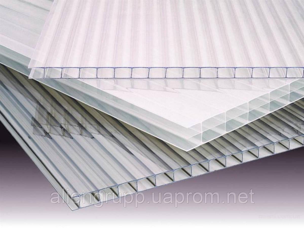 Сотовый поликарбонат 10 мм прозрачный 2100х6000