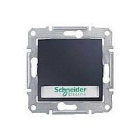 Кнопка выключатель с полем для надписи с подсветкой Sedna Schneider Графит, SDN1600370