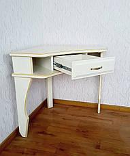 """Белый туалетный столик """"Дарина"""" угловой, фото 3"""