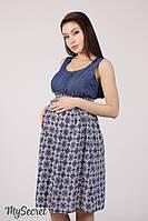 Яркий сарафан для беременных и кормления LAYLA SF-28.011, синий джинс с восточным рисунком 1, фото 1