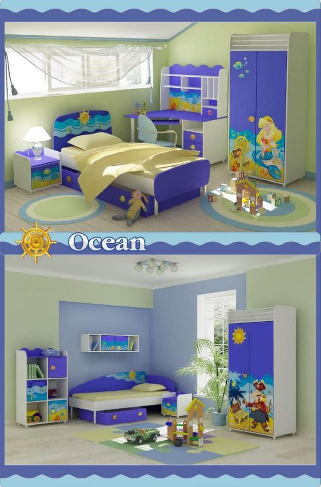 Детская комната Ocean (В интерьере, фото модификации исполнения)