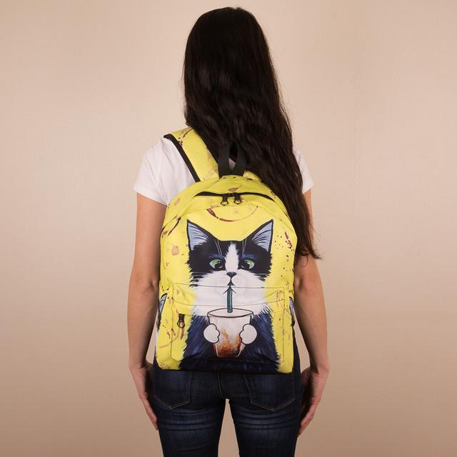 желтый городской рюкзак