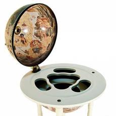 Глобус бар підлоговий на трьох ніжках 33001 W, фото 2