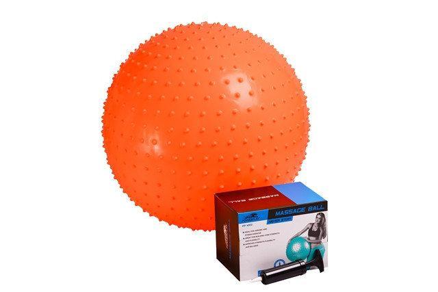 М'яч для фітнесу масажний (фітбол) PowerPlay 4002 d-55см + насос