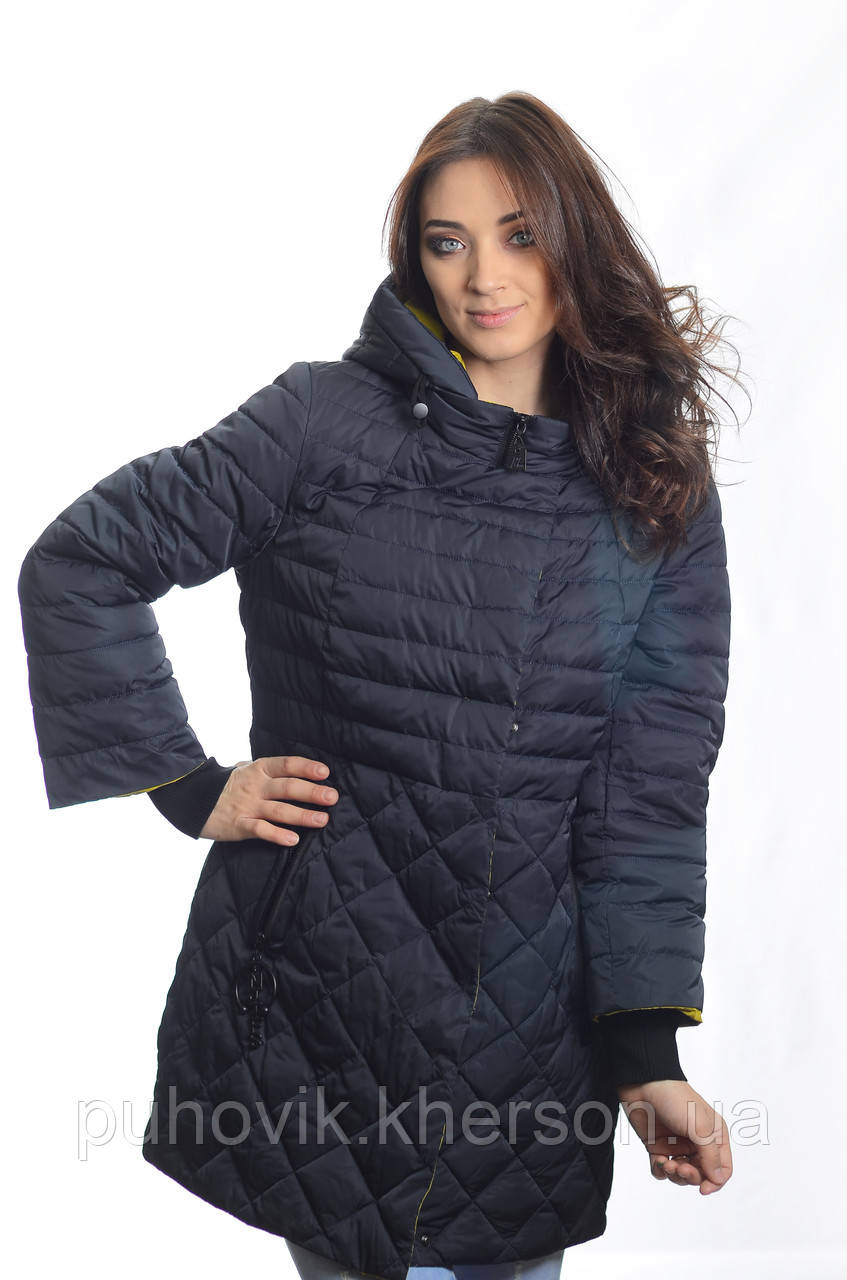 eb6624fd94a Куртка женская деми Meajiateer M1858 т.синий -