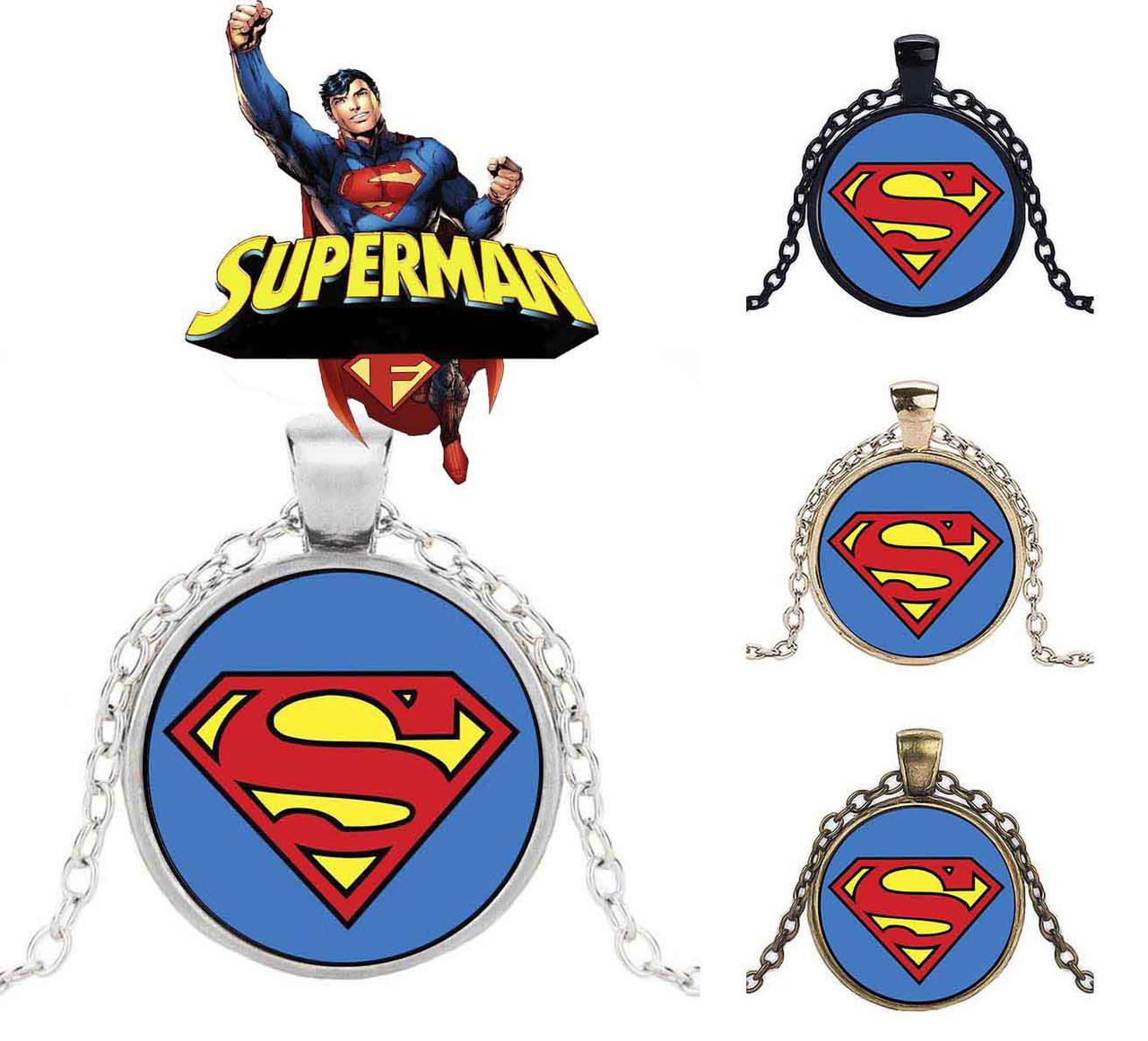 Кулон с изображением логотипа супергероя Супермена DC комиксы