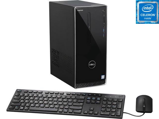Системный блок Dell Inspiron 3650, Сeleron G3900, 4 ГБ, 1 ТБ + Клавиатура и мышка