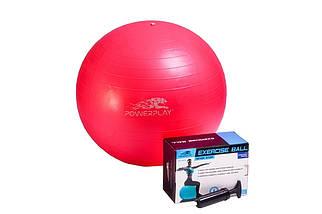 Мяч для фитнеса гладкий (фитбол) PowerPlay 4001 d-55см +  насос