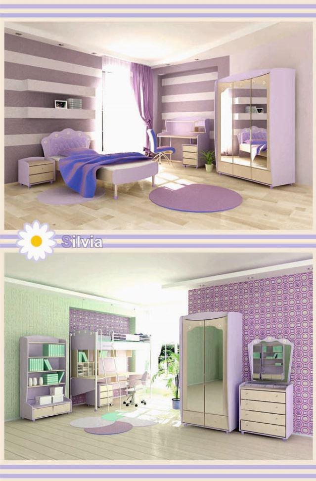 Детская комната Сильвия (Silvia) модификации исполнения, фото в интерьере