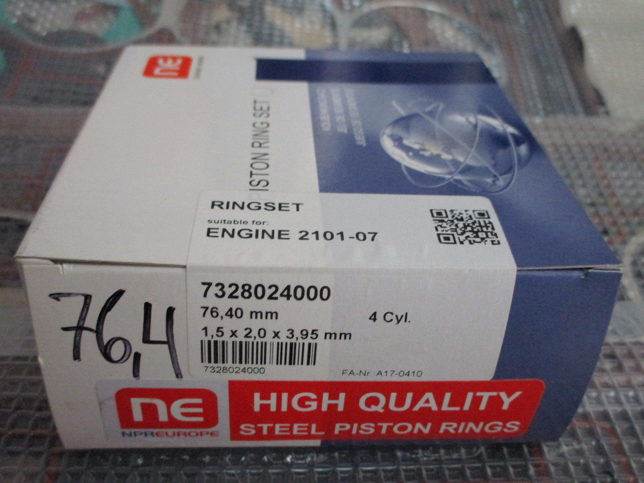 Кольца наборные ваз  2108 NPR(sm) 76.4