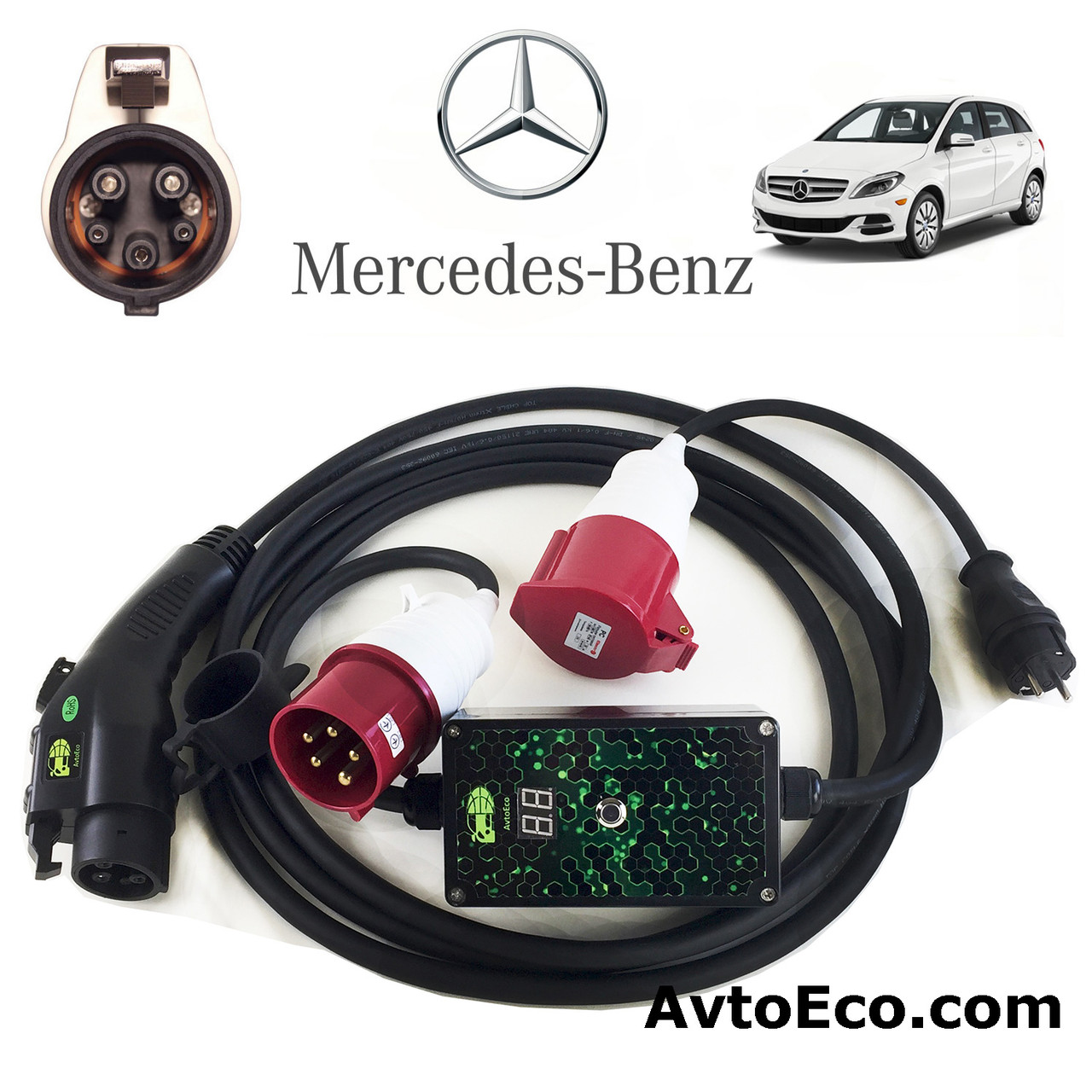 Зарядное устройство для электромобиля Mercedes-Benz B-class Electric Drive AutoEco J1772-32A-BOX