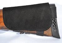 Патронташ на приклад замшевый коричневый черный черный