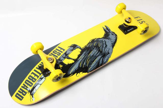 Скейт деревянный от Fish Skateboard скейтборд Ворон Канадский клен