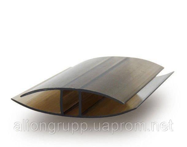 Профиль поликарбонатный соеденительный НР-6 мм L-6000мм Бронза