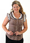 Блуза из тонкого батиста хлопок приталенная Бл 045, фото 3