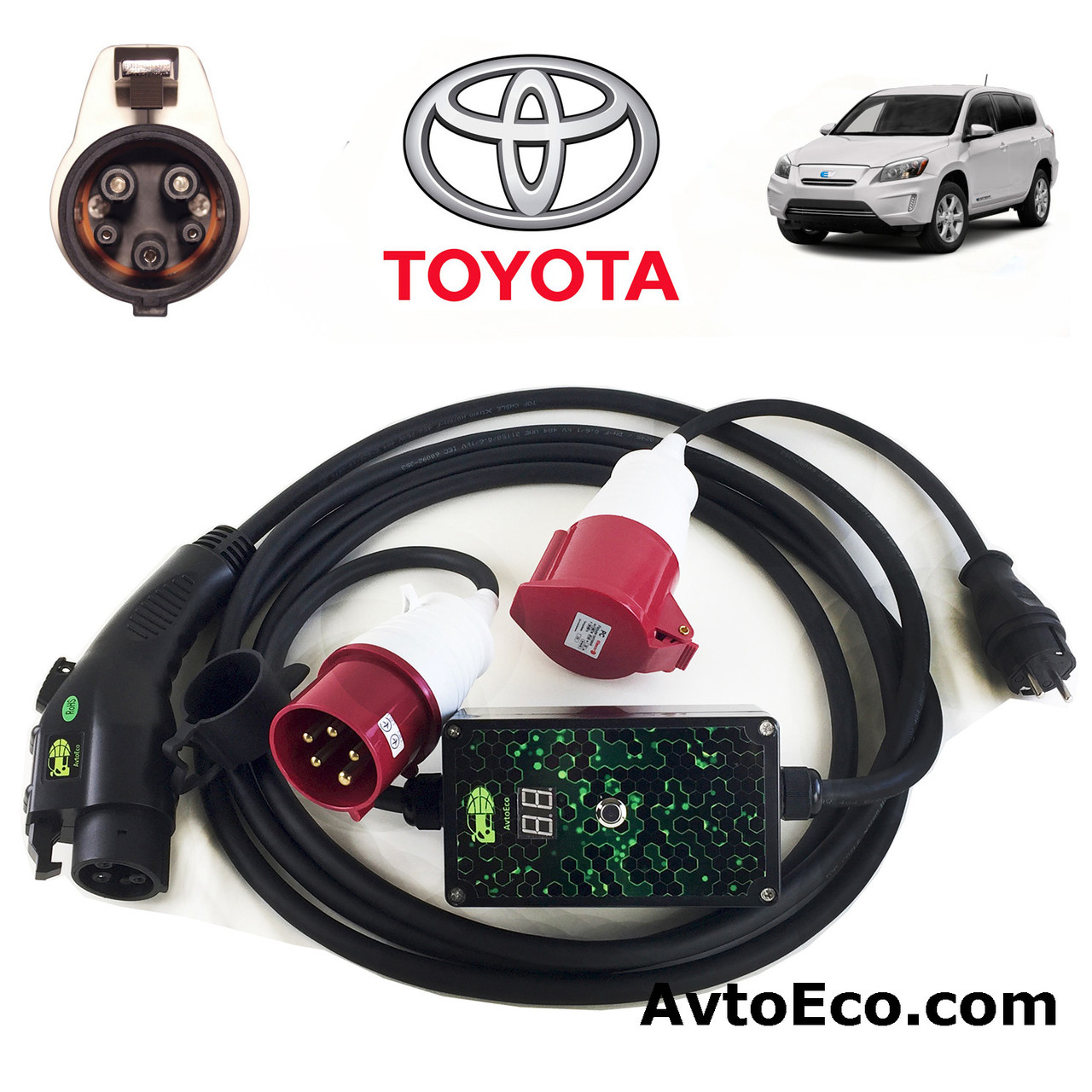 Зарядное устройство для электромобиля Toyota RAV4 EV AutoEco J1772-32A-BOX