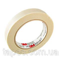Стеклотканевая лента 3М 69, белая, термоактивный силиконовый адгезив, 6мм х 33м, 200 С, 3000 В