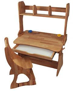 Комплект ученический парта+стул+надстройка (90 см) TM Mobler
