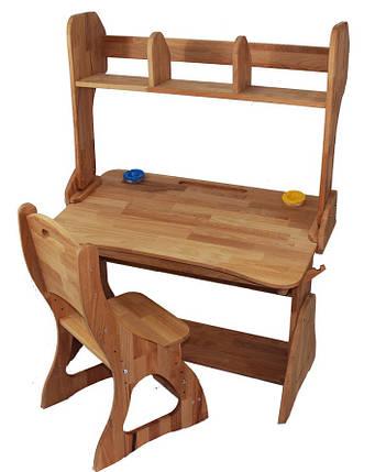 Комплект ученический парта+стул+надстройка (90 см) TM Mobler, фото 2
