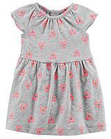 Летнее платье + трусики Carters. Комплект 2-ка на новорожденную девочку до 55 см