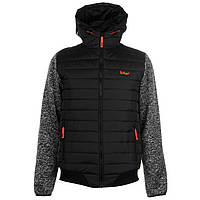 Куртка Lee Cooper Padded Knit Sleeve Jacket Mens