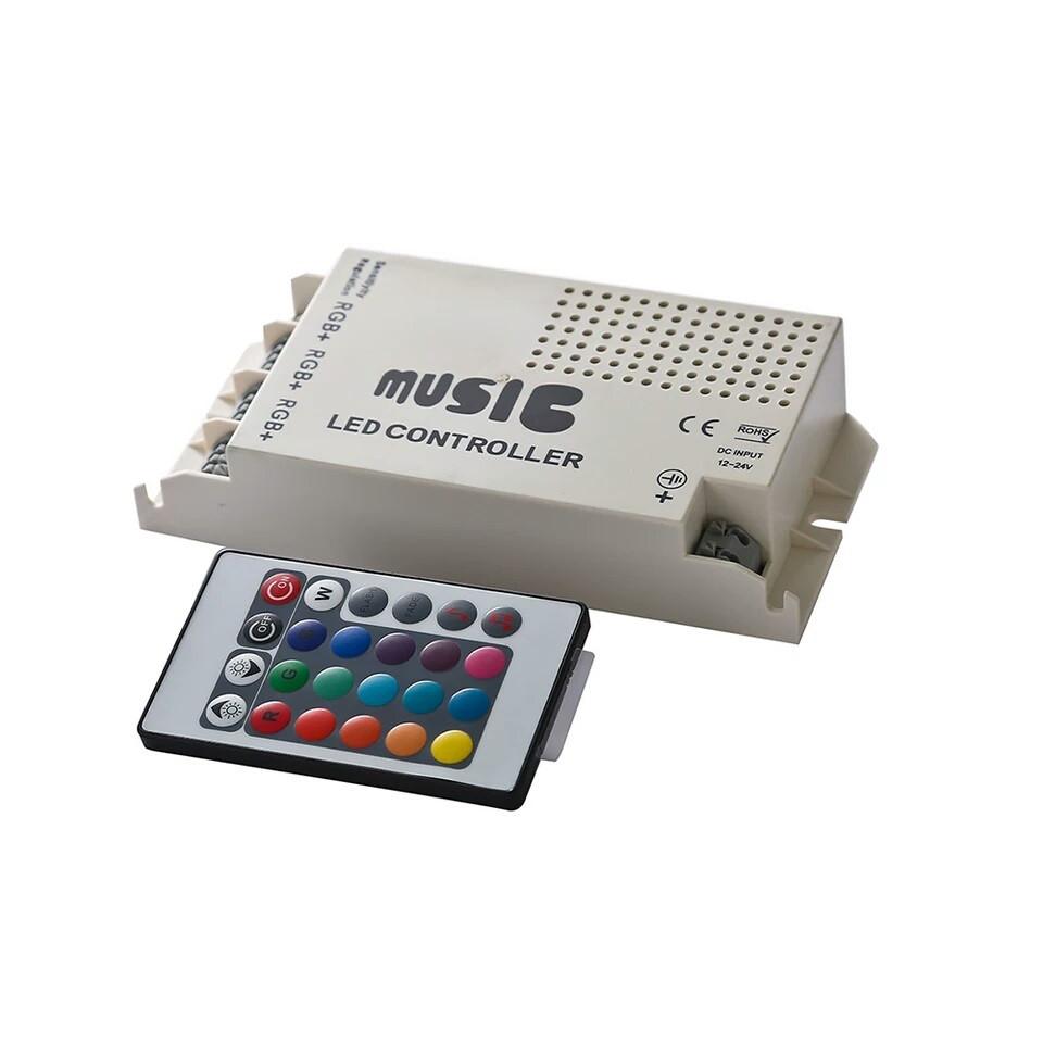 Контроллер RGB 9А-IR-24 кнопки music