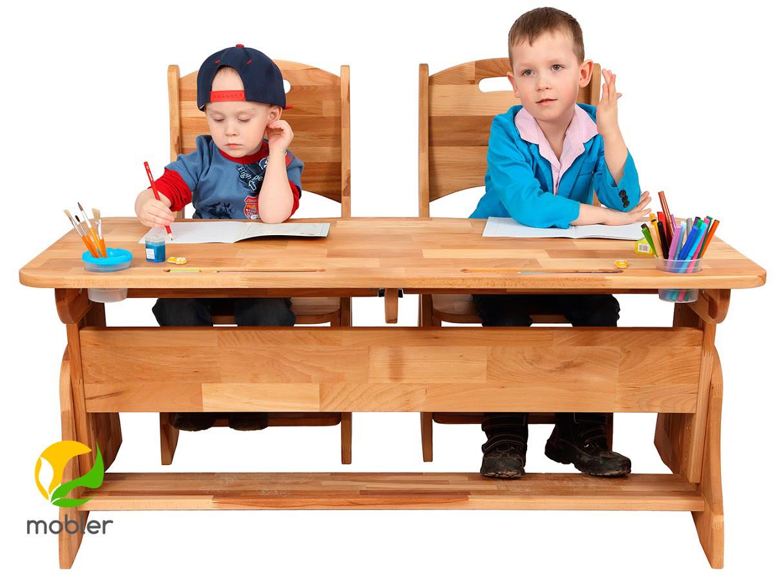Комплект ученический  парта +2 стульчика TM Mobler
