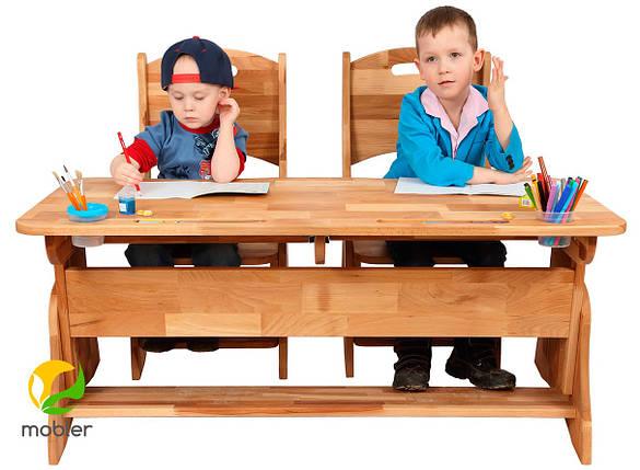 Комплект ученический  парта +2 стульчика TM Mobler, фото 2
