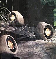 Садовый светильник в виде камней , фото 1