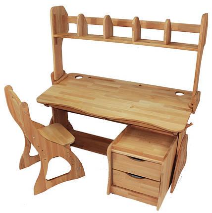 Комплект ученический парта+стул+надстройка+тумба (90 см) TM Mobler, фото 2