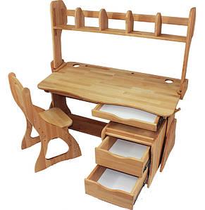 Комплект ученический парта+стул+надстройка+тумба (90 см) TM Mobler
