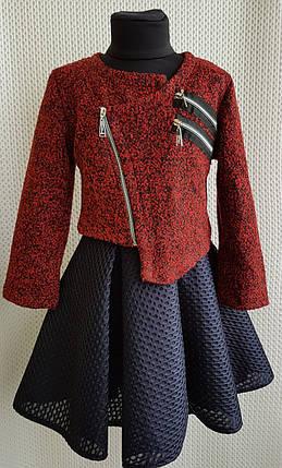 Куртка Косуха Змейка для  девочки  р.128-146 бордовый, фото 2