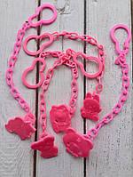 Цепочка для пустышки розовая, фото 1