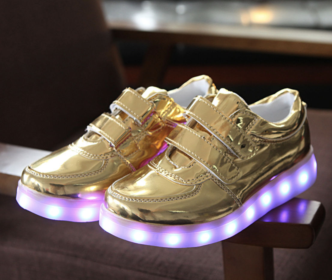 Детские светящиеся LED кроссовки с подсветкой 11 режимов мигающие с USB зарядкой