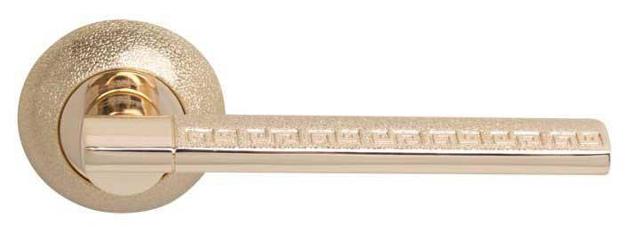 Ручка дверная на розетке RDА Jolie золото/золото Pave