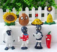Игрушки Растения против зомби Набор Plants vs zombies 8 фигурок
