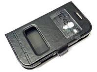 Чехол книжка с окошками momax для Samsung Galaxy S duos s7562 черный
