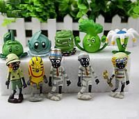 Игрушки Растения против зомби Набор Plants vs zombies 10 фигурок