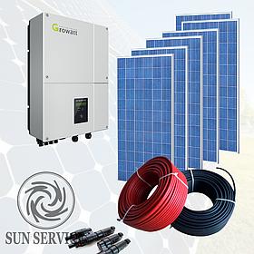 """Сонячна електростанція 5kW під """"Зелений тариф"""", комплект економ"""
