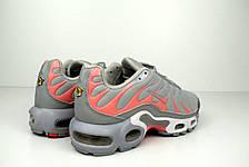 Кроссовки женские Nike TN Plus (серые-розовые) Top replic, фото 3