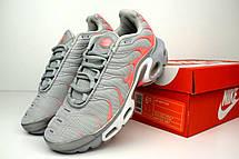 Кроссовки женские Nike TN Plus (серые-розовые) Top replic, фото 2