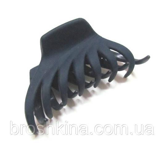 Краб для волос каучук L 6,5 см синий