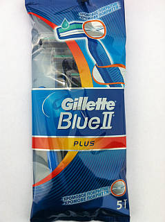 Gillette Станок для бритья одноразовый Blue ll Plus (Набор 5шт)
