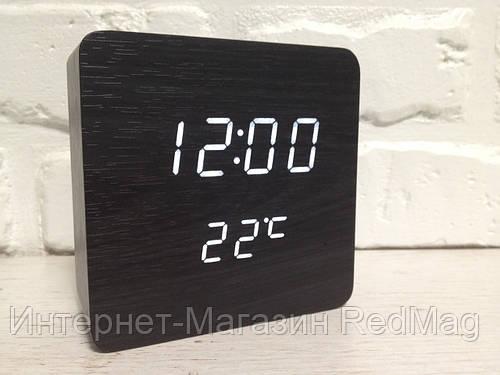 Часы настольные деревянные электронные VST-872