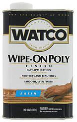 Полироль для дерева финишная бесцветная, глянцевая или матовая, WATCO Wipe-On Poly,100мл, 250мл, 500мл