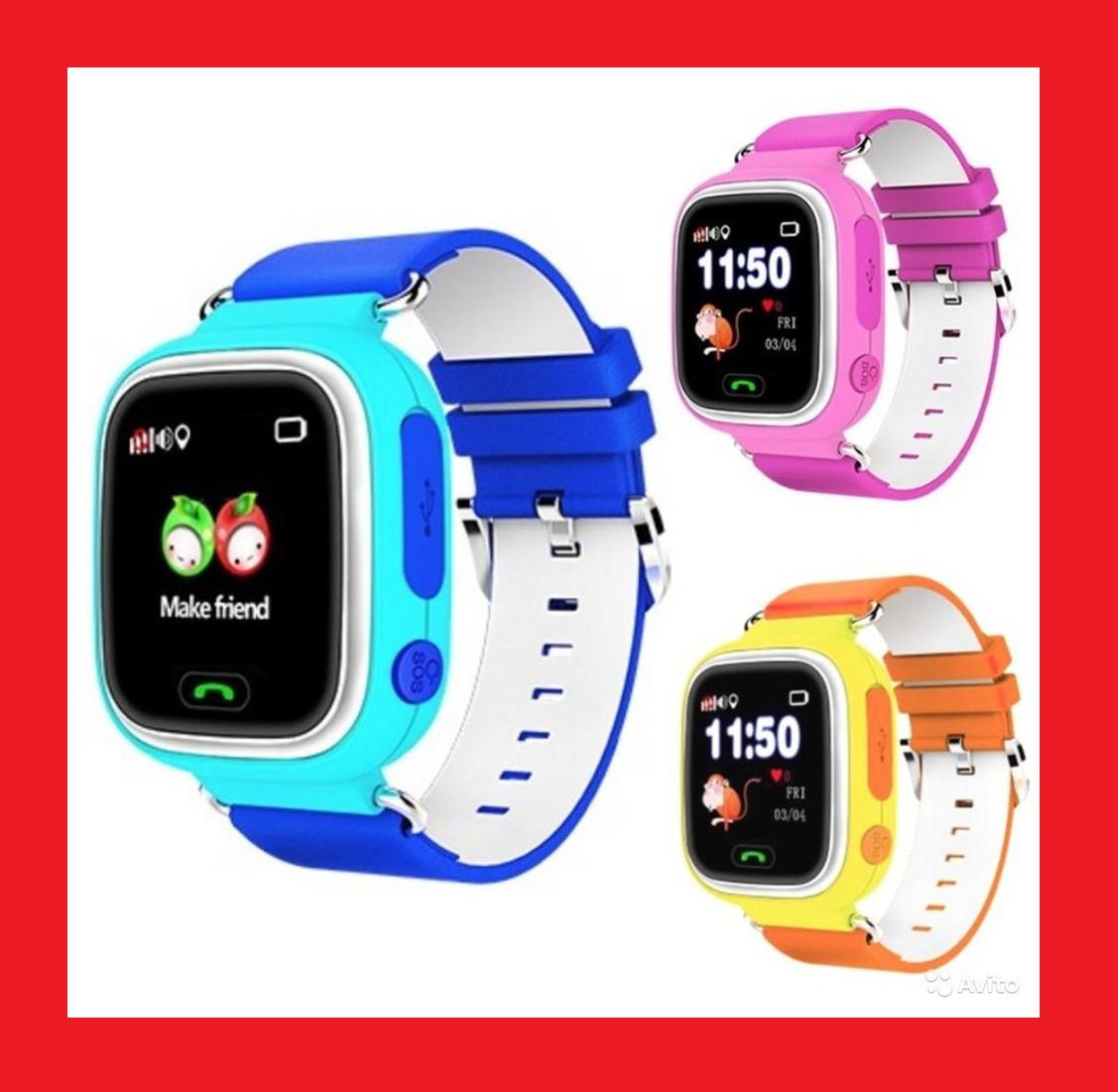 Smart Baby Watch Q80 Детские смарт часы с GPS трекером