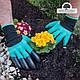 Рукавички з кігтями садові garden gloves для саду, городу роботи, фото 4