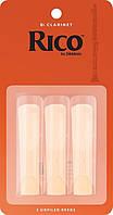 Трости для кларнета RICO Bb Clarinet #2.5 - 3 Pack