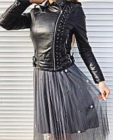Женская шикарная кожаная  куртка (2 цвета), фото 1