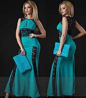 """Длинное платье в пол """" Отделка гипюр """" Dress Code"""